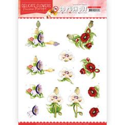 SB10451 - Uitdrukvel - Precious Marieke - Delicate Flowers - Poppy
