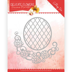 PM10181 - Mal - Precious Marieke Delicate Flowers - Delicate Flower Oval