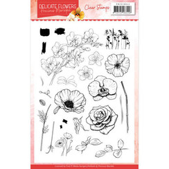 PMCS10044 - Stempel - Precious Marieke Delicate Flowers