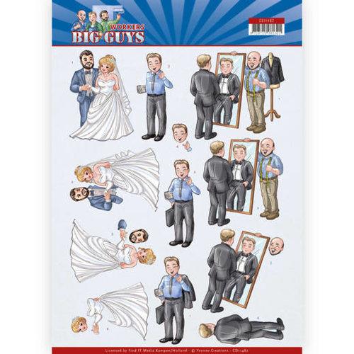 Yvonne Creations CD11482 - 10 stuks knipvellen - Yvonne Creations - Big Guys - Workers - Well Dressed