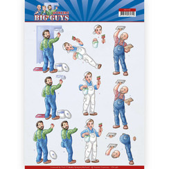 CD11481 - 10 stuks knipvellen - Yvonne Creations - Big Guys - Workers - Handyman