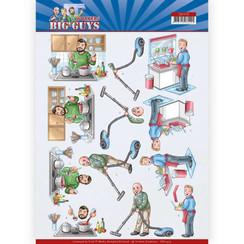 CD11479 - 10 stuks knipvellen - Yvonne Creations - Big Guys - Workers - Big Cleaning
