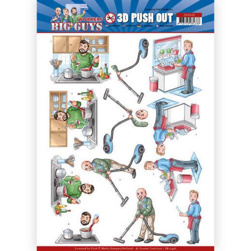 Yvonne Creations SB10446 - Uitdrukvel - Yvonne Creations - Big Guys - Workers - Big Cleaning