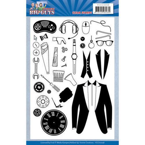 Yvonne Creations YCCS10058 - Stempel - Yvonne Creations - Big Guys - Workers