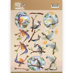 CD11486 - 10 stuks knipvellen - Amy Design - Wild Animals Outback - Parrot