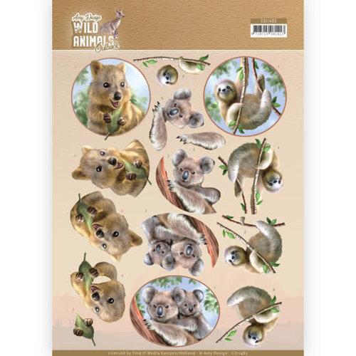 Amy Design CD11485 - 10 stuks knipvellen - Amy Design - Wild Animals Outback - Koala