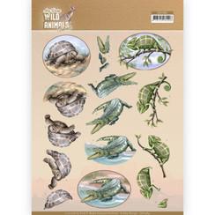 CD11484 - 10 stuks knipvellen - Amy Design - Wild Animals Outback - Reptiles