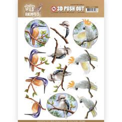 SB10445 - 3D Uitdrukvel - Amy Design - Wild Animals Outback - Parrot