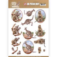SB10442 - HJ18201 - 3D Uitdrukvel - Amy Design - Wild Animals Outback - Kangaroo