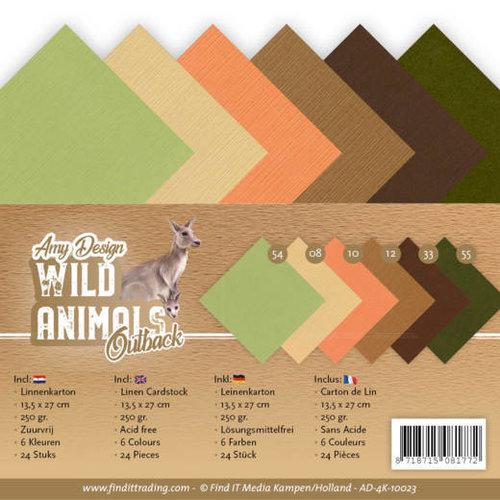 Amy Design AD-4K-10023 - Linnen karton Pack - 4K - Amy Design - Wild Animals Outback