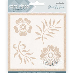 CDEST008 - Card Deco Essentials - Stencil Big Leaves