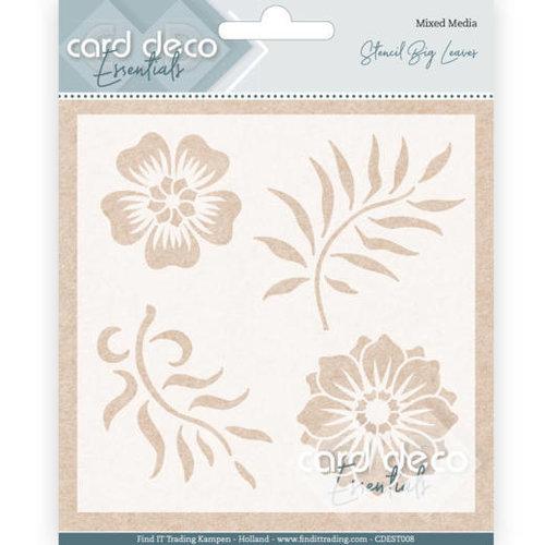 Amy Design CDEST008 - Card Deco Essentials - Stencil Big Leaves