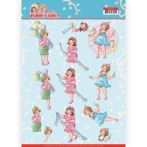 Yvonne Creations CD11478 - 10 stuks knipvellen - Yvonne Creations - Bubbly Girls - Party - Party Time