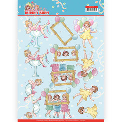 CD11476 - 10 stuks knipvellen - Yvonne Creations - Bubbly Girls - Party - Let's have fun