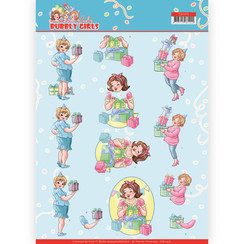 CD11475 - 10 stuks knipvellen - Yvonne Creations - Bubbly Girls - Party - Decorating