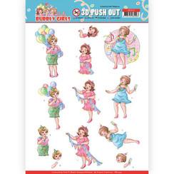SB10441 - 3D Uitdrukvel - Yvonne Creations - Bubbly Girls - Party - Party Time