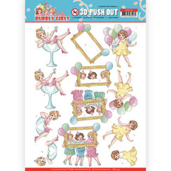 SB10439 - 3D Uitdrukvel - Yvonne Creations - Bubbly Girls - Party - Let's have fun