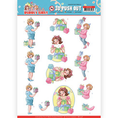 SB10438 - 3D Uitdrukvel - Yvonne Creations - Bubbly Girls - Party - Decorating