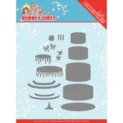 YCD10202 - Mal - Yvonne Creations - Bubbly Girls Party - Birthday Cake