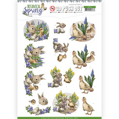 SB10437 - 3D Uitdrukvel - Amy Design - Botanical Spring - Best Friends