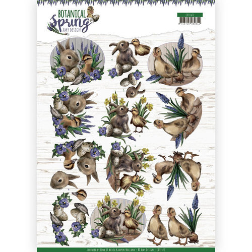 Amy Design CD11472 - 10 stuks knipvellen - Amy Design - Botanical Spring - Best Friends