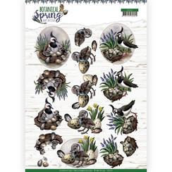 CD11471 - HJ18101 - 10 stuks knipvellen - Amy Design - Botanical Spring - Lapwing