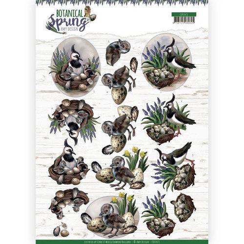 Amy Design CD11471 - HJ18101 - 10 stuks knipvellen - Amy Design - Botanical Spring - Lapwing