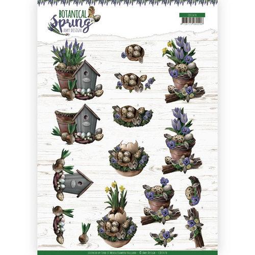 Amy Design CD11470 - 10 stuks knipvellen - Amy Design - Botanical Spring - Spring Arrangement