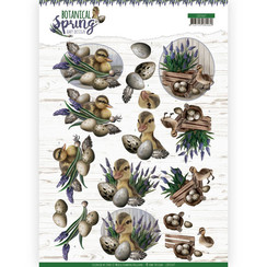 CD11469 - 10 stuks knipvellen - Amy Design - Botanical Spring - Happy Ducks