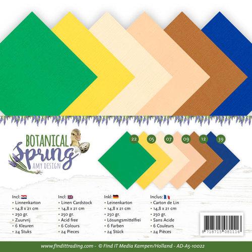 Amy Design AD-A5-10022 - Linnen karton Pack - A5 - Amy Design - Botanical Spring