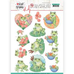 SB10426 - 3D Uitdrukvel - Jeanines Art- Well Wishes - Frogs