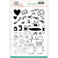 JACS10031 - Stempel - Jeanines Art- Well Wishes