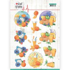 CD11462 - 10 stuks knipvellen - Jeanines Art- Well Wishes - Pills and Vitamins
