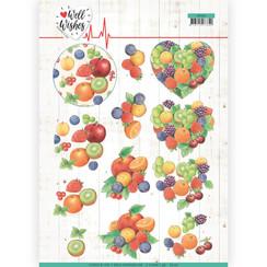 CD11460 - 10 stuks knipvellen - Jeanines Art- Well Wishes - Fruits
