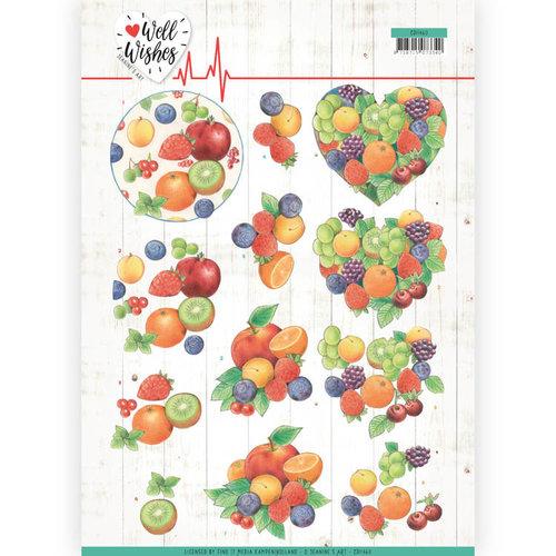 Jeanines Art CD11460 - 10 stuks knipvellen - Jeanines Art- Well Wishes - Fruits