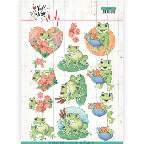 Jeanines Art CD11459 - 10 stuks knipvellen - Jeanines Art- Well Wishes - Frogs