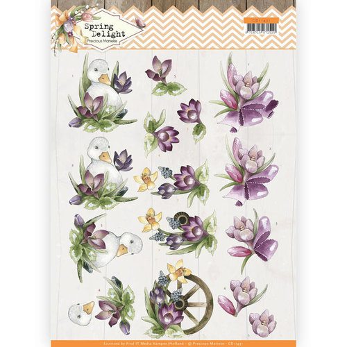 Precious Marieke CD11431 - 10 stuks knipvellen - Precious Marieke - Spring Delight - Purple Crocus