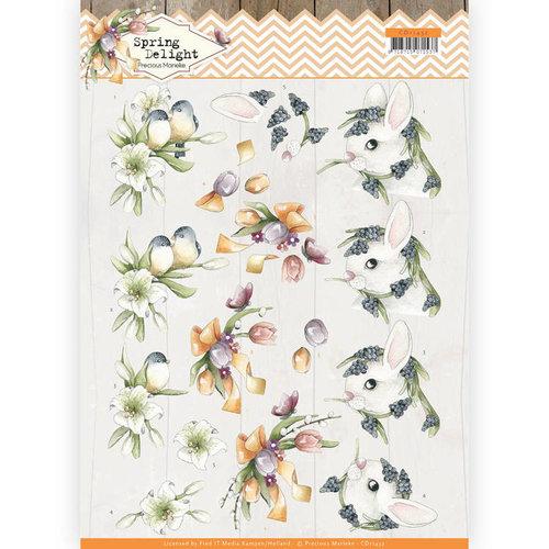 Precious Marieke CD11432 - HJ18001 - 10 stuks knipvellen - Precious Marieke - Spring Delight - Young Animals