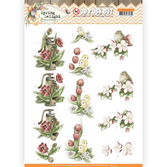 SB10424 - Uitdrukvel - Precious Marieke - Spring Delight - Red Flowers