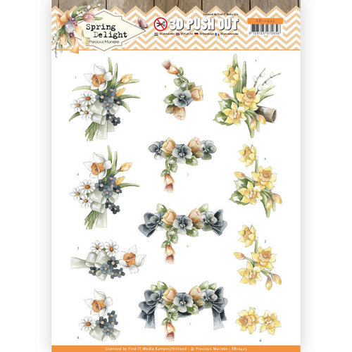 Precious Marieke SB10425 - Uitdrukvel - Precious Marieke - Spring Delight - Violets and Daffodils