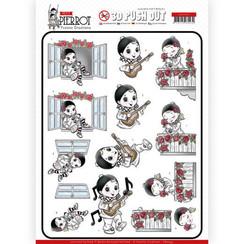 SB10431 - 3D Uitdrukvel - Yvonne Creations - Petit Pierrot - Serenade