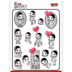 CD11467 - 10 stuks knipvellen - Yvonne Creations - Petit Pierrot - With Love