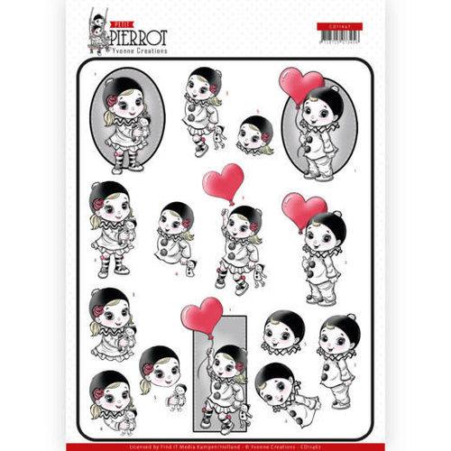 Yvonne Creations CD11467 - 10 stuks knipvellen - Yvonne Creations - Petit Pierrot - With Love