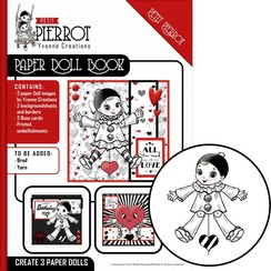 YCPD001 - Paper Doll Book - Yvonne Creations - Petit Pierrot