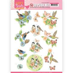 SB10417 - 3D uitdrukvel - Jeanines Art- Happy Birds - Gevederde vrienden
