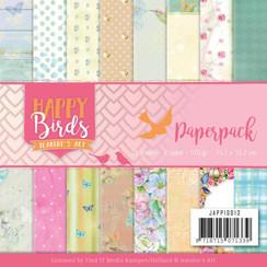 JAPP10013 - Papierpak - Jeanines Art- Happy Birds