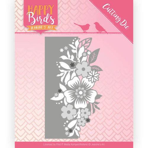 Jeanines Art JAD10085 - Snijmal - Jeanines Art- Happy Birds - Bloemenrand
