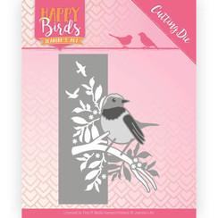 JAD10086 - Snijmal - Jeanines Art- Happy Birds - Vogelrand