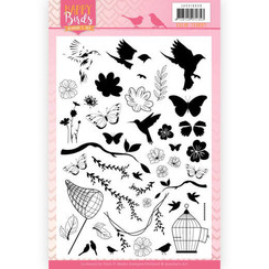 JACS10030 - Stempel - Jeanines Art- Happy Birds