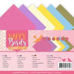 JA-4K-10010 - Linnenpakket - 4K - Jeanines Art- Happy Birds